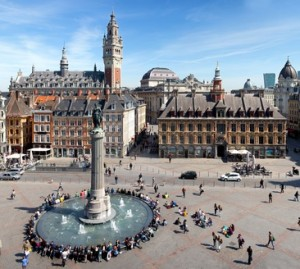 Main square of Lille, France